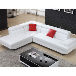 Beautiful girl house sofa pure white with sexy red sofa cushion luxury sofa