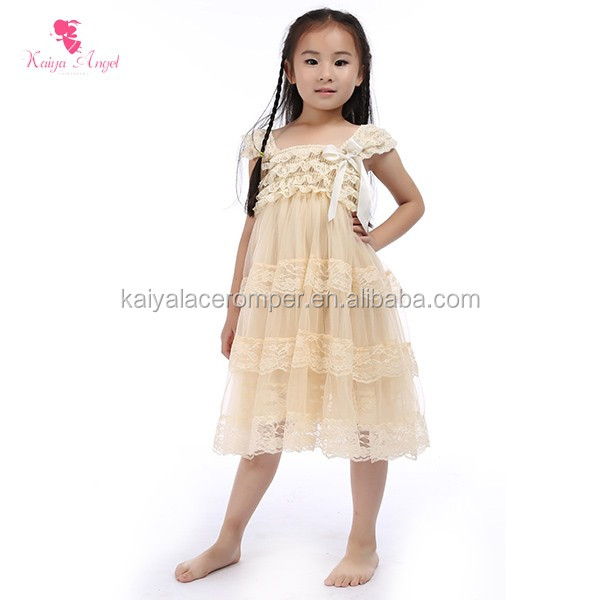 ivory princess wedding girl dress tier girls party dresses baby girl dresses with caps