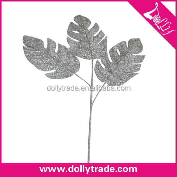 Plastic Wedding Floral Silver Corsage Leaves Artificial Leaves