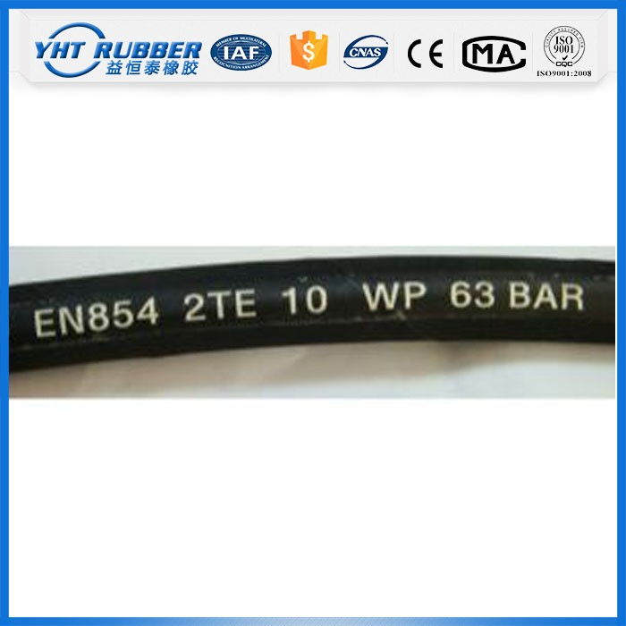 Made in China steel wire braided hydraulic rubber hose pipe manufacturer