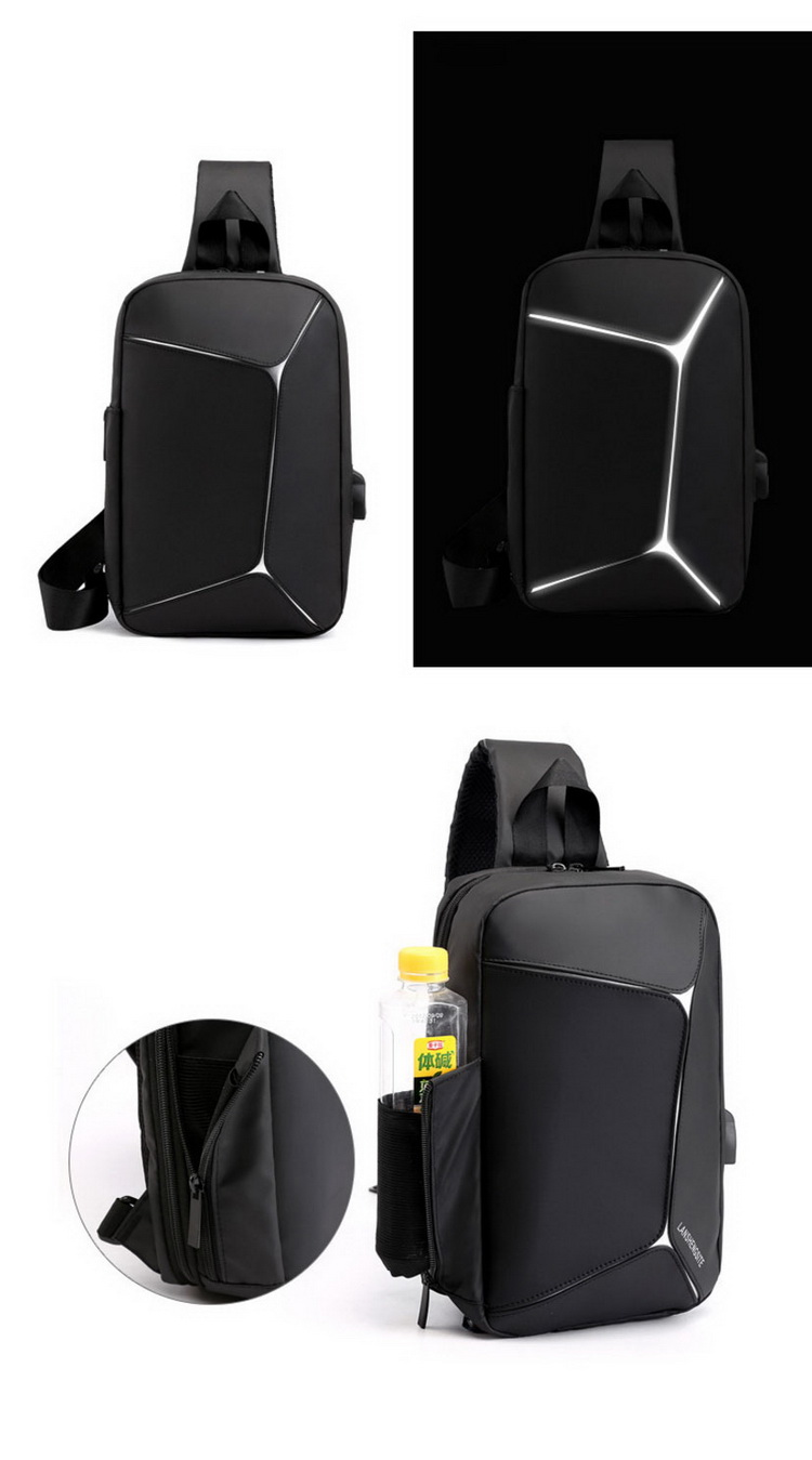 Wholesale Popular Waterproof Men Chest Shoulder Bag Cell Phone Sling Crossbody Bags