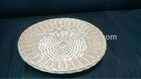 wholesale cheap oval handcraft wicker plate for table
