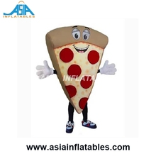 Manufacture Food Mascot Costume / Professional Customize Pepperoni Pizza Mascot Costume