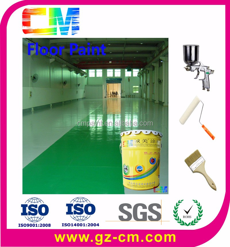 High performance dust proof epoxy coating for factory floor paint