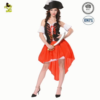 Halloween adult cosplay costume Party Sexy Pirate women Fancy dress costume