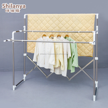 Outdoor super space folding clothes hanger rack