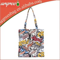 Fashion Custom Tote Printed Canvas Bag Full Color For Art Creation