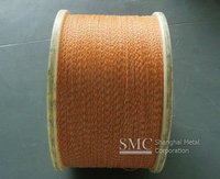 1*5mm 39Feet gold color embossed aluminum wire