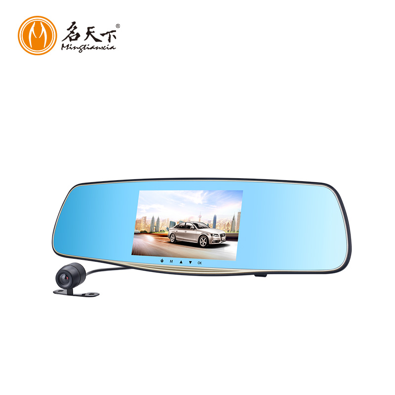 auto dimming rearview mirror 170 Degrees Rearview Reverse Dual Lens rear view camera Car DVR Camera