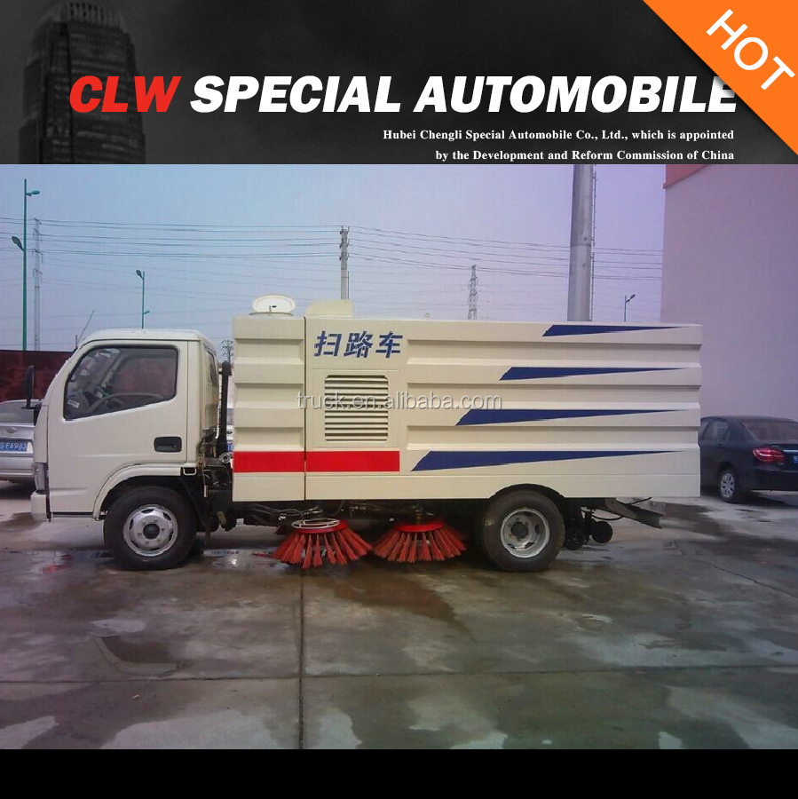 dongfeng CLW 4*2 pavement sweeper truck for sales