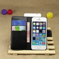 Cheap manufacture flip leather phone case for iphone5