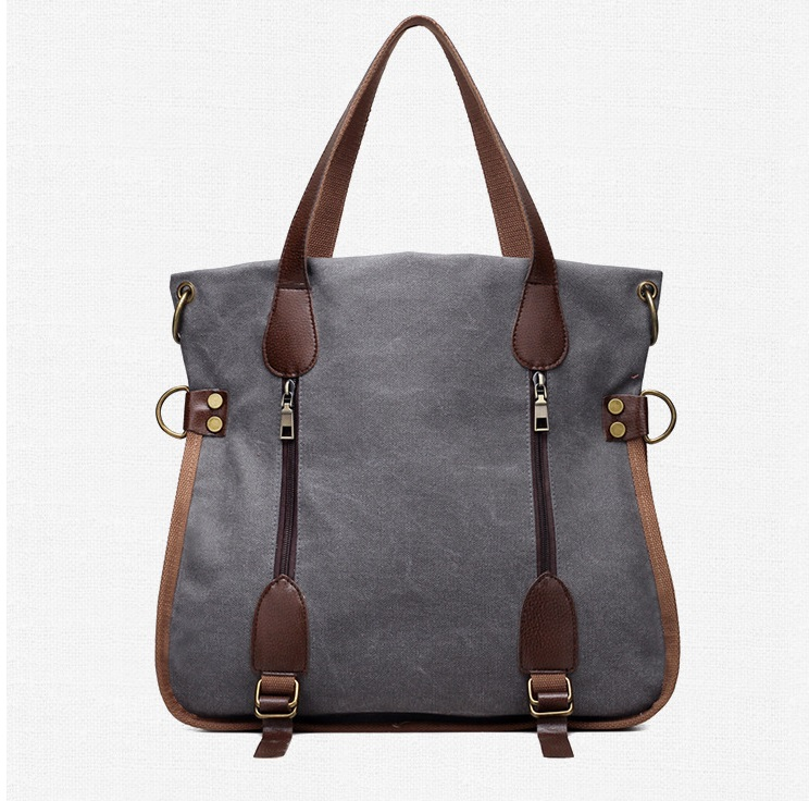 trendy quality canvas women handbag tote bag women handle messenger bag