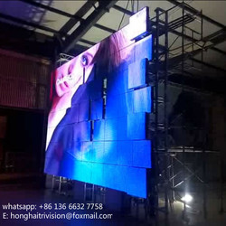 led stage matrix dot stage backdrop bumping led screen