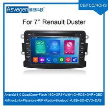 Wholesale Android Car DVD Player For 7'' Renault Duster GPS Support Buletooth Radio Wifi Playstore With Auto Spare Parts Car