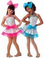 Fancy Girls Bowknot Style Dance stage costumes performance dress