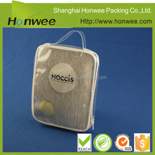 china wholesale clear plastic zipper bag with handle custom tote bag