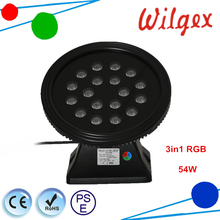 Outdoor DMX512 18x3W RGB 3IN1 DMX LED Wall Washer