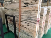 Wooden Grain Colorful Marble Cheap Stone Slabs