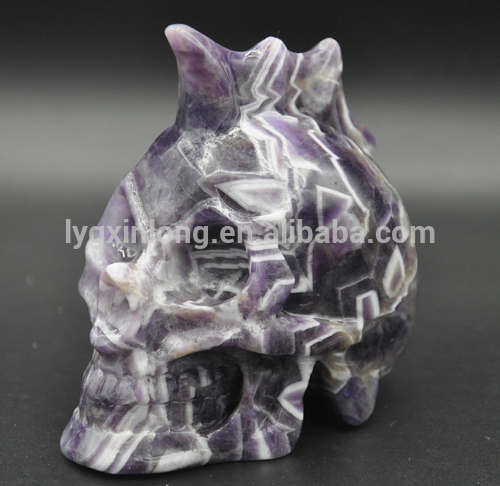 As souvenir / gift 4-5 inch multifunctional quality-guarantee amethyst crystal skull