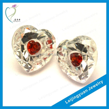 Loose Alibaba Charm Heart CZ Cubic Zirconia Stone For Jewelry Making
