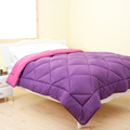 Super soft purple colourful polyester quilt for home and hotel