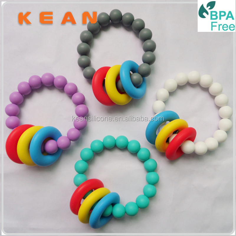 Rubber Bracelet/2014 New Silicone Rubber Bracelet Baby Toys for Kids Teething