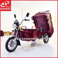Special Type 900W 48V Express Cargo Tricycle Open Type Electric / Enclosed Express Tricycle For Option