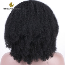 Top quality thick human hair lace front wig