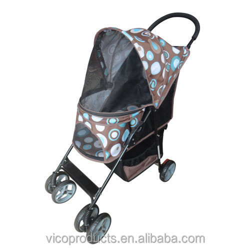 Lightweight Four wheel luxury pet stroller for dog