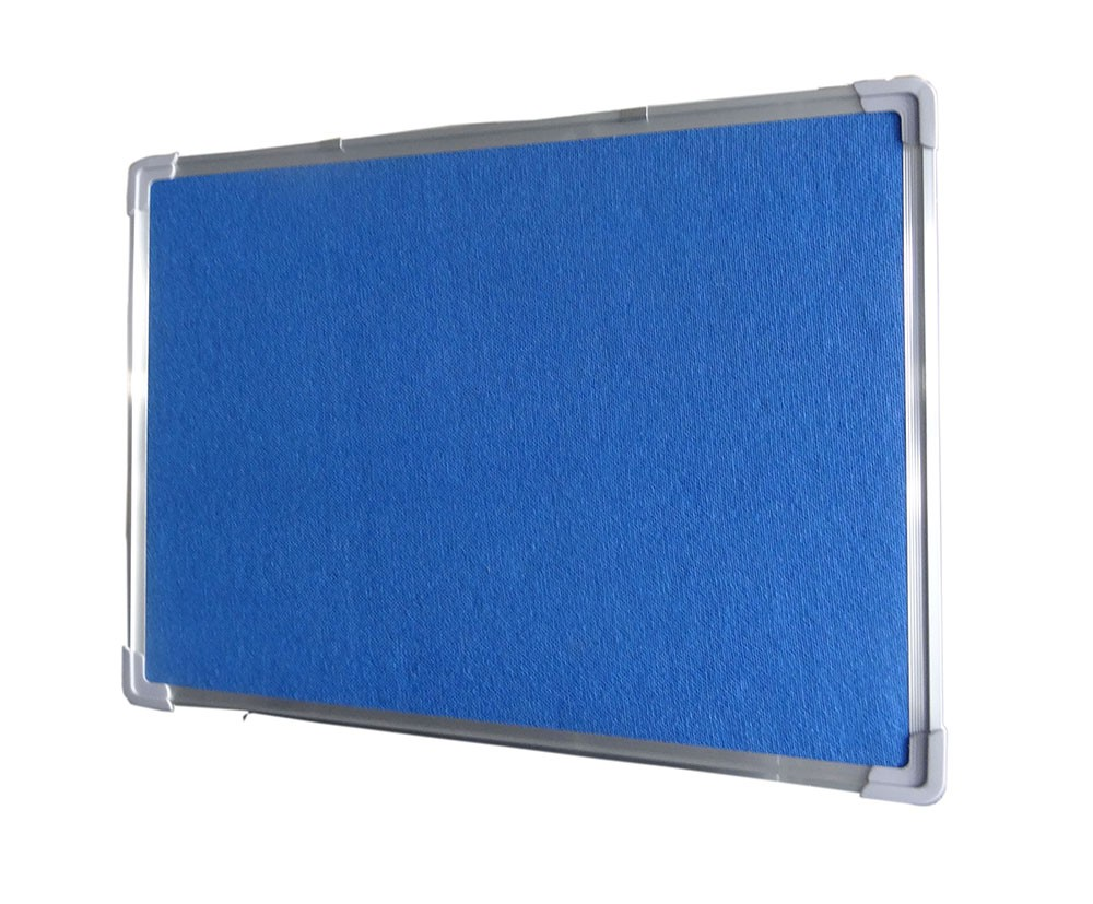 Aluminum frame melamine standard bulletin board sizes