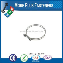 Made in Taiwan Stainless Steel german type hose clamp small hose clamps double wire