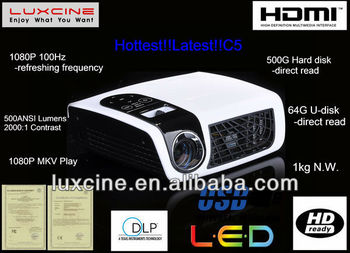 New Year Promotion!!! C5 1080p home theater projectors ,Analogue TV