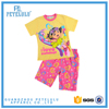 Newest Summer Girls Casual Clothing Sets Carton Short Sleeve Children's Pajamas 100% cotton
