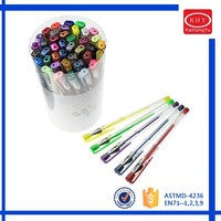 OEM service available tube package promotional 40 colors gel pen