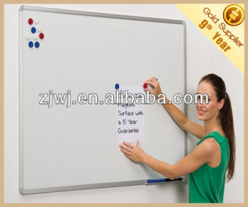 Jiangsu supplier 60x90cm school coated steel dry erase whiteboard magnetic white board