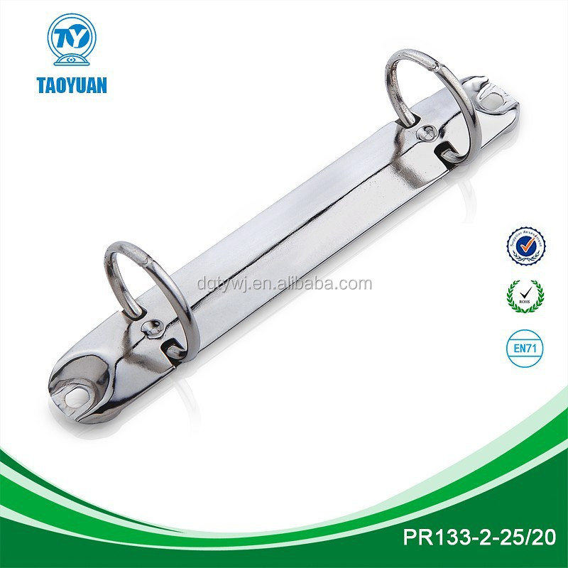 Hot sale metal 2 ring binder mechanism / ring <strong>clip</strong> (PR 133-2-25/20)
