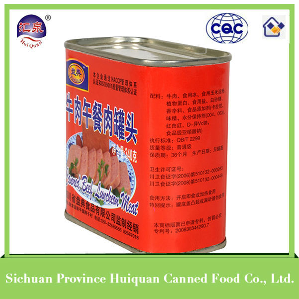 Chinese products wholesale canned beef brazil canned beef luncheon meat