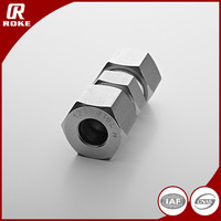 25mm round Straight metric tube end SS304 union connector