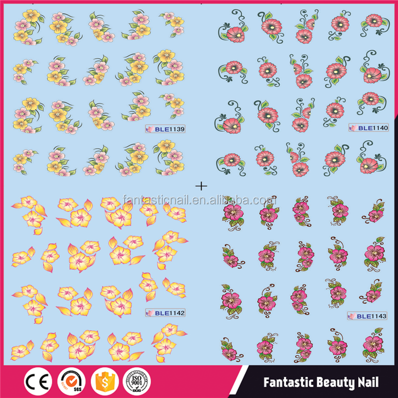 2017 Newest flower Water Transfer Nail Sticker art design Nail Art Sticker wholsale
