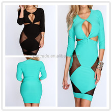 2014 Celebrity New Designs Sexy Half Sleeve Solid Women Casual Mini Dress