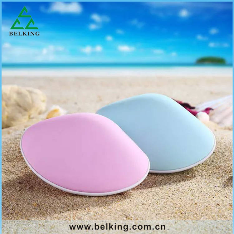 Multi-functional Plastic Power Bank, Hands Warming Sea Shell Power Bank LED Light Phone Charger
