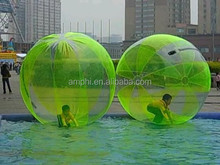 inflatable water walking ball human pvc jumbo floating inflatable bouncing jumping ball aqua water running ball