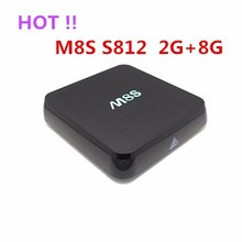 Amlogic S905 CPU A53 2.0GHz 2G+8G Android 5.0 5.1 Lollipop M8s Anroid TV BOX