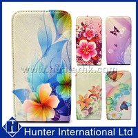 Flower Design Flip Leather Case For Samsung S4 I9500