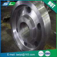 Leading stainless steel flanges manufacturer forging raw material ring roll forging with ASME standard from China