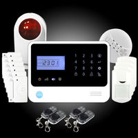 Beautiful! wireless alarm system GS-G90E with FM frequency 433 MHz, European design GSM alarm system APP control