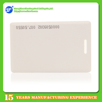 Blank/White 1.8mm t5577 thick id card with serial numbers