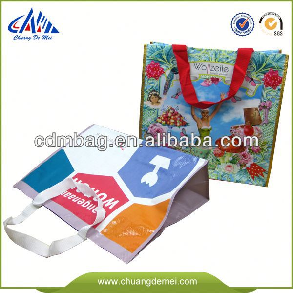Green Promotional bamboo fabric shopping bags