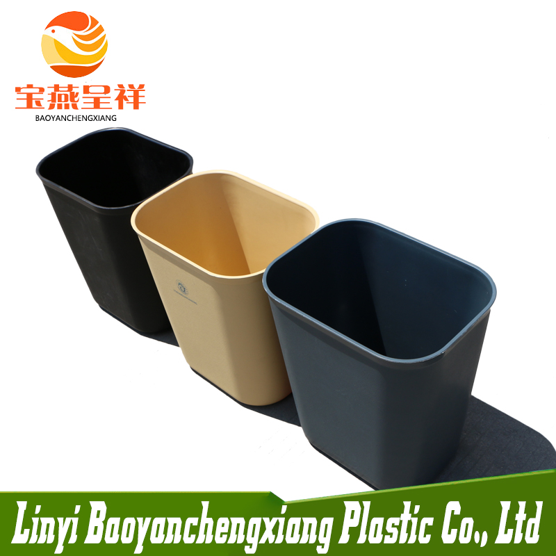 Household Cleaning Tools 15L Plastic Kitchen Garbage Waste Bin for Hotel Room