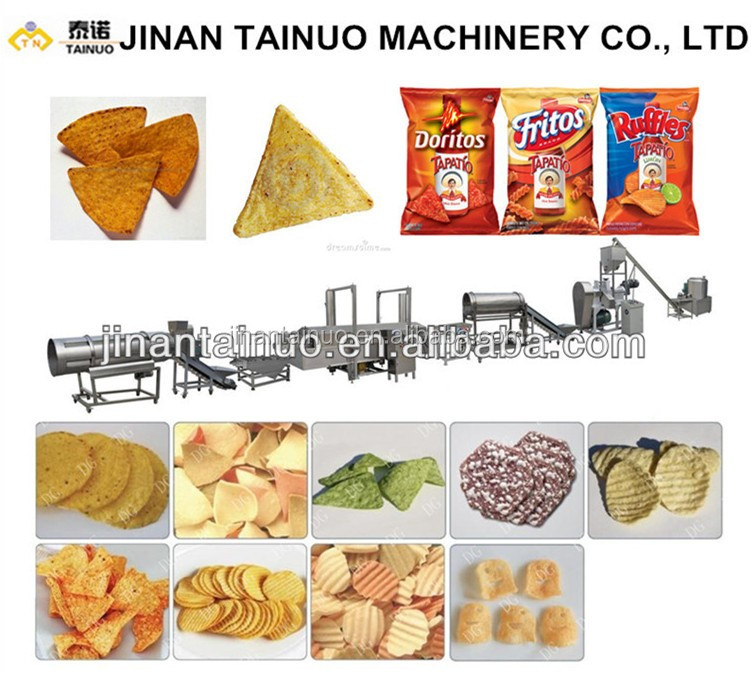 (Double screw extruder) Rice Chips machinery/potato chips processing line